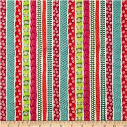 Christmas Cool Yule Stripe Multi Fabric