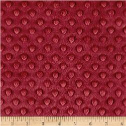 Michael Miller Minky Solid Dot Burgundy