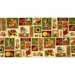 Harvest Abundance Squares Cream/Multi