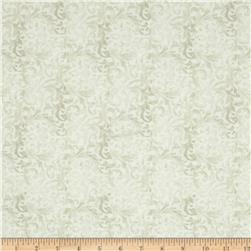 Timeless Treasures Ophelia Fleur Scroll Oyster