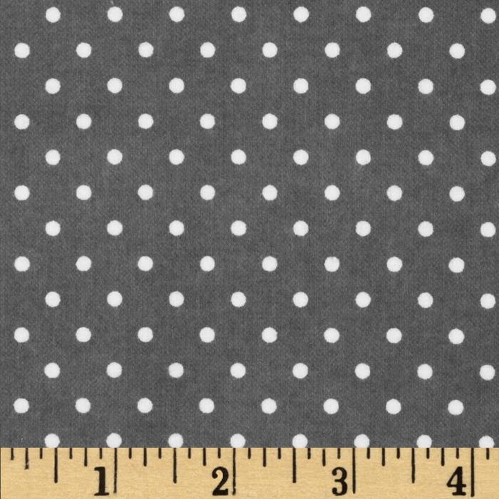 Cozy Cotton Flannel Mini Dots Grey