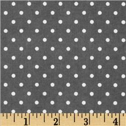 Cozy Cotton Flannel Mini Dots Grey Fabric
