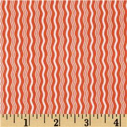Riley Blake Hipster Crimp Stripe Orange