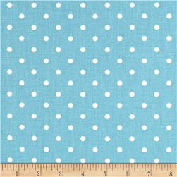 Premier Prints Mini Dots Coastal Blue/White