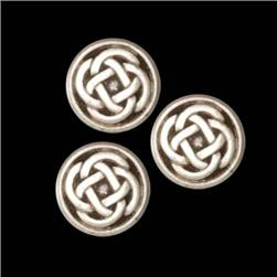 Metal Button 5/8 Celtic Knot Antique Silver