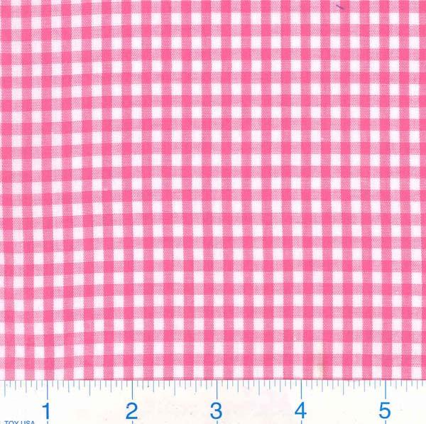 Woven 1/8 Gingham Hot Pink