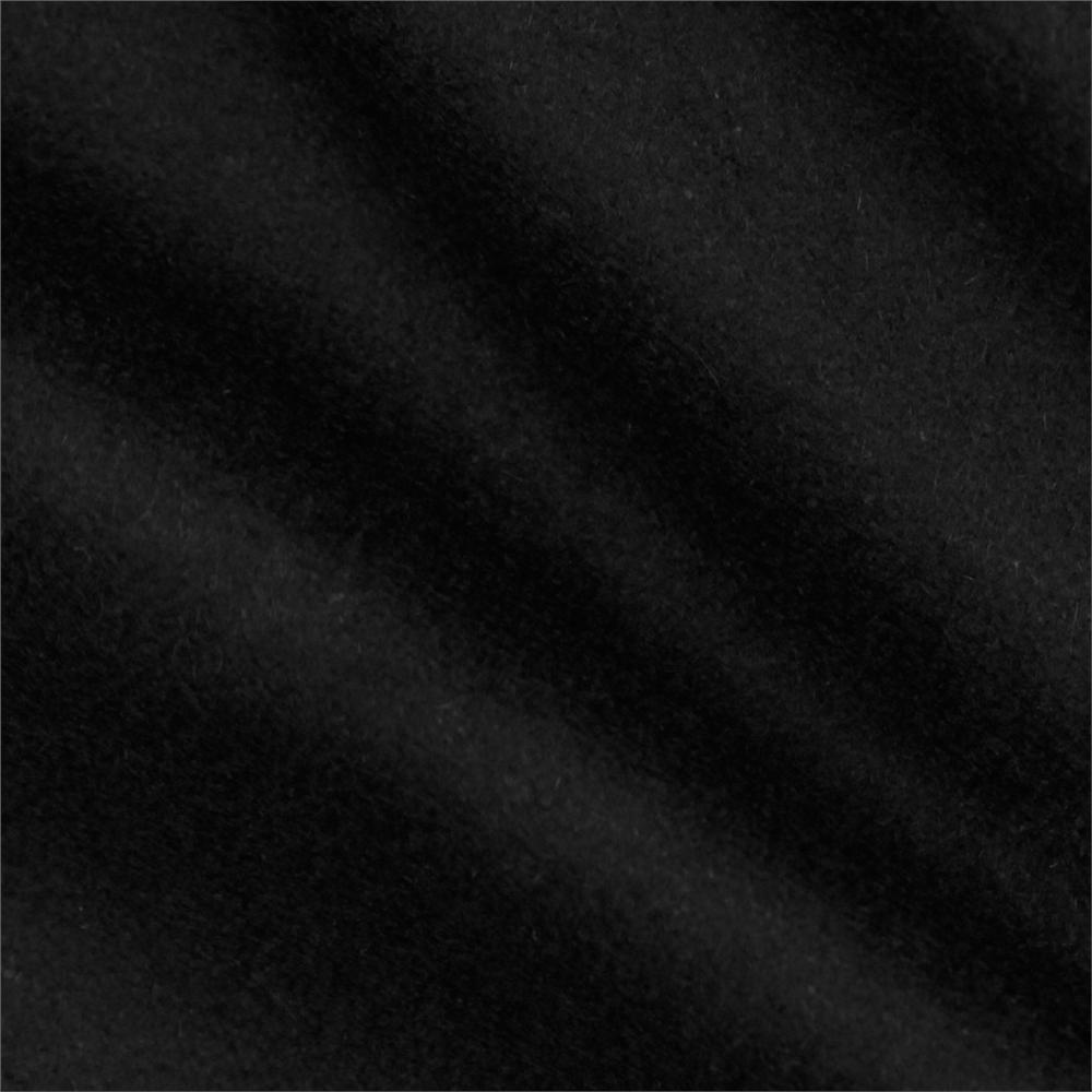 Telio wool blend melton black discount designer fabric for Black fabric