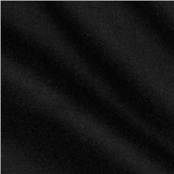 Wool Blend Melton Black Fabric
