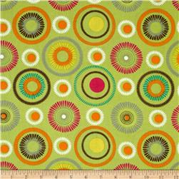 Poppy Delight Spiral Flowers Green
