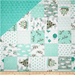 Moda Storybook Double Sided Quilted Aqua