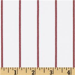 Team Spirit Pin Stripe White/Cardinal