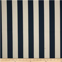 RCA Vertical Stripe Blackout Drapery Fabric Navy/Natural