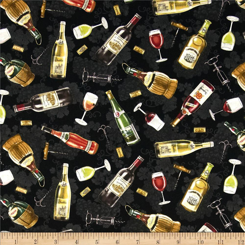 Italian vineyard tossed wine bottles black discount for Wine bottle material