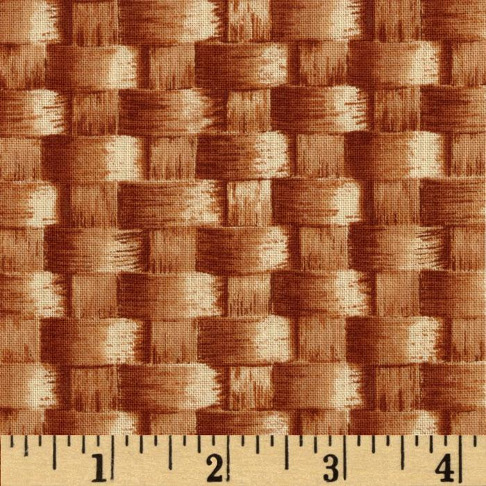 Farmer's Market Large Basket Weave Brown