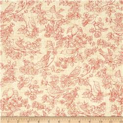 American Beauty Toile Tan/Red