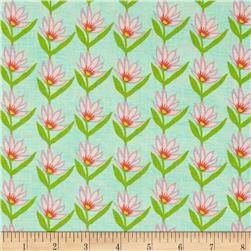 Garden Party Tango Set Flower Aqua Fabric