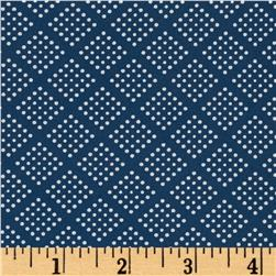 Kaufman Sevenberry Petite Foulard Digital Trellis Denim