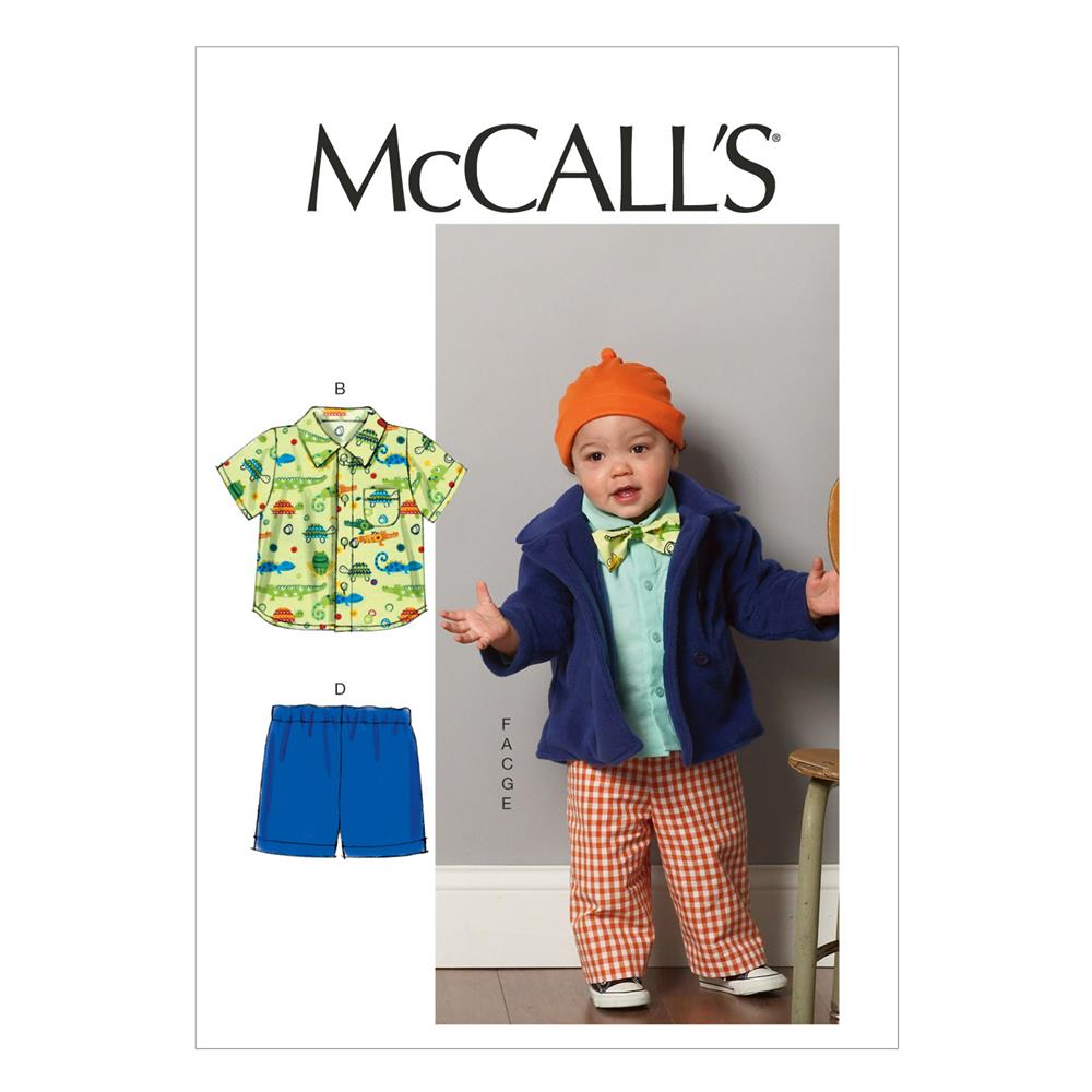 McCall's Infants' Jacket, Shirts, Shorts, Pants, Hat and
