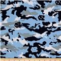 Collegiate Cotton Broadcloth University of North Carolina Camo