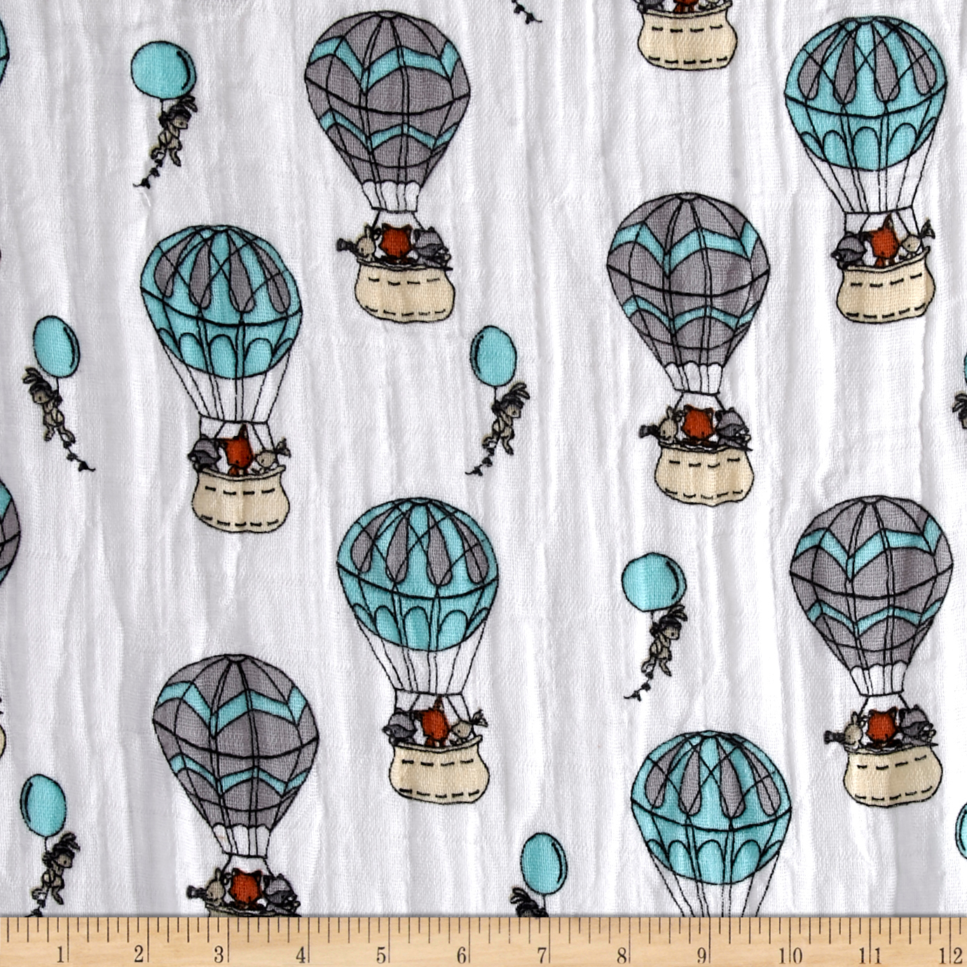 Embrace Double Gauze Sweet Melody Designs Up Up and Away Saltwater Fabric by Shannon in USA