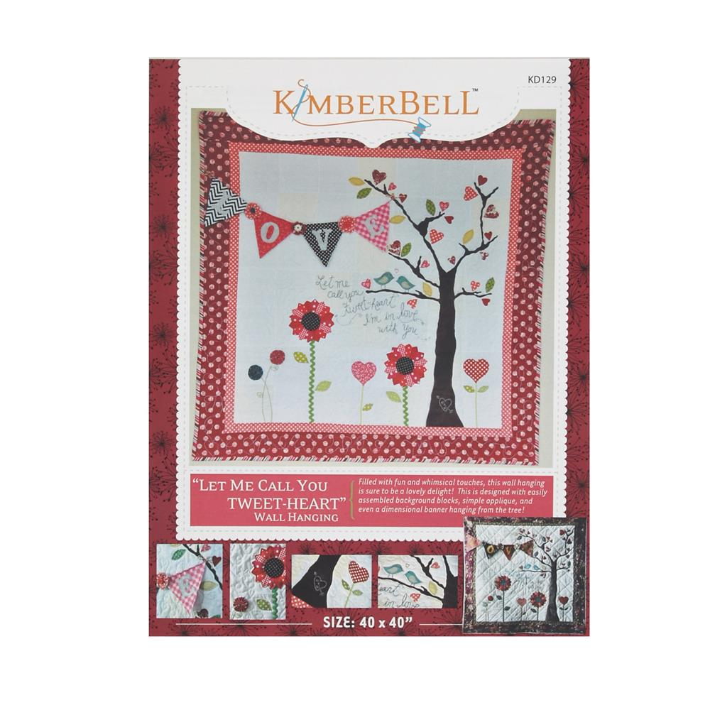 Kimberbell kids let me call you tweet heart wall hanging for Kids pattern fabric
