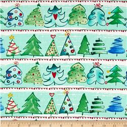 Joyful Holiday Oh Christmas Tree Multi Fabric