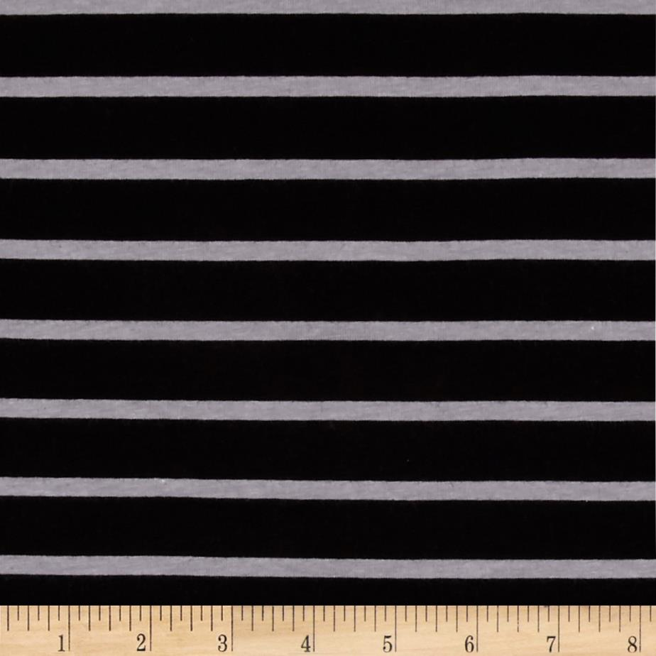 Riley Blake Knit Stripe Black/Gray