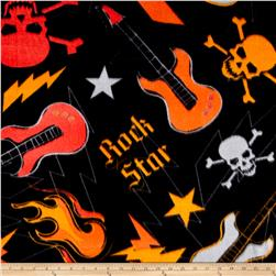 Fleece Prints Boys Take Over Rock Star Black