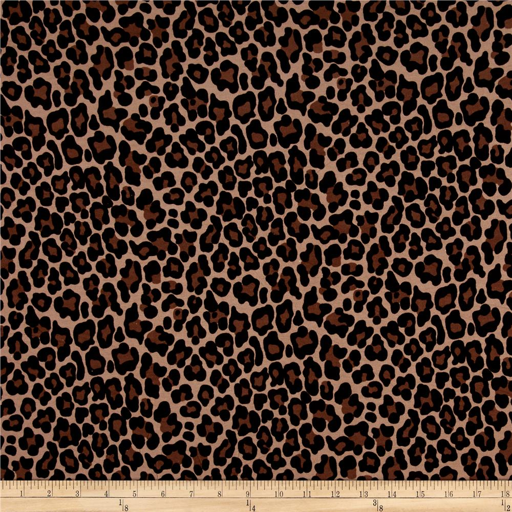 Leopard Jersey Knit Brown