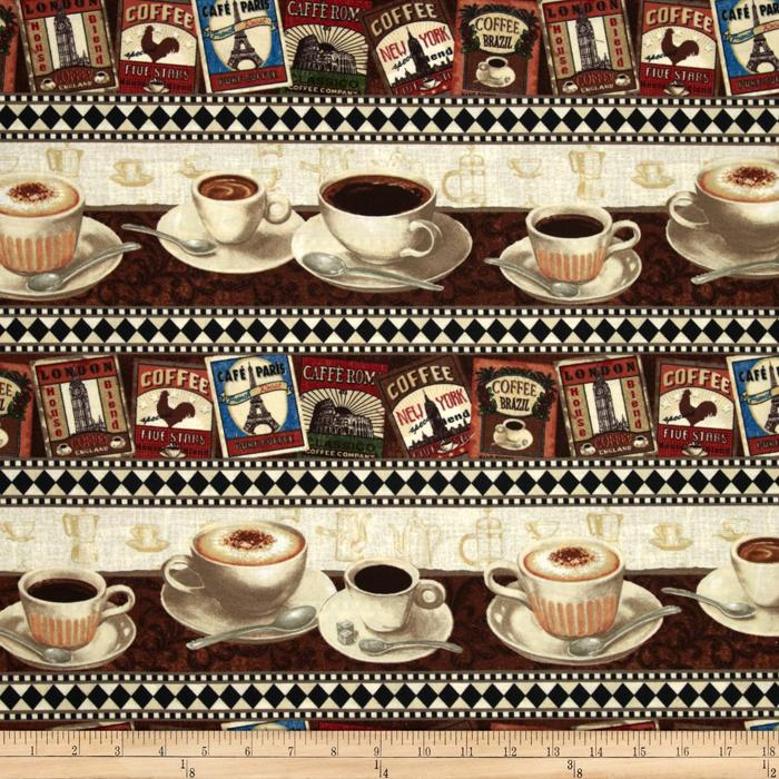 Coffee Break Repeating Stripe Brown