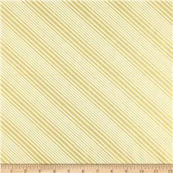 All Wrapped Up Metallic Diagonal Stripe Cream/Gold Fabric