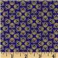Timeless Treasures Palazzo Metallic Small Geo Blue