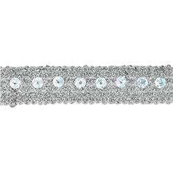 3/4'' Adriana Metallic Sequin Braid Trim Roll Silver