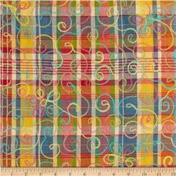 Embroidered Madras Plaid Multi
