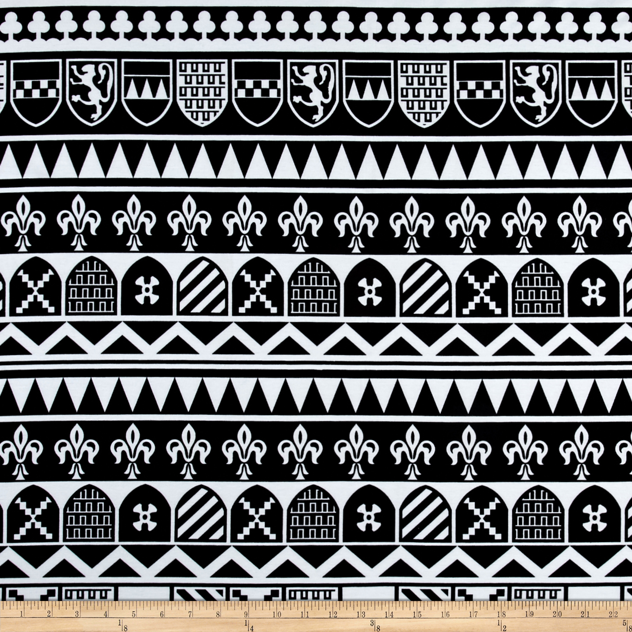 Ponte De Roma Royal Knight Black/white Fabric