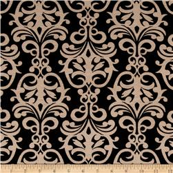 Soft Jersey Knit Exotic Finial Buff/Black