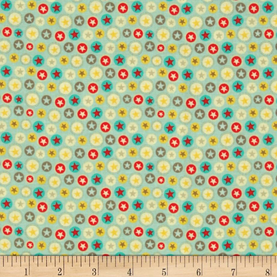 Riley Blake Boy Crazy Stars Teal