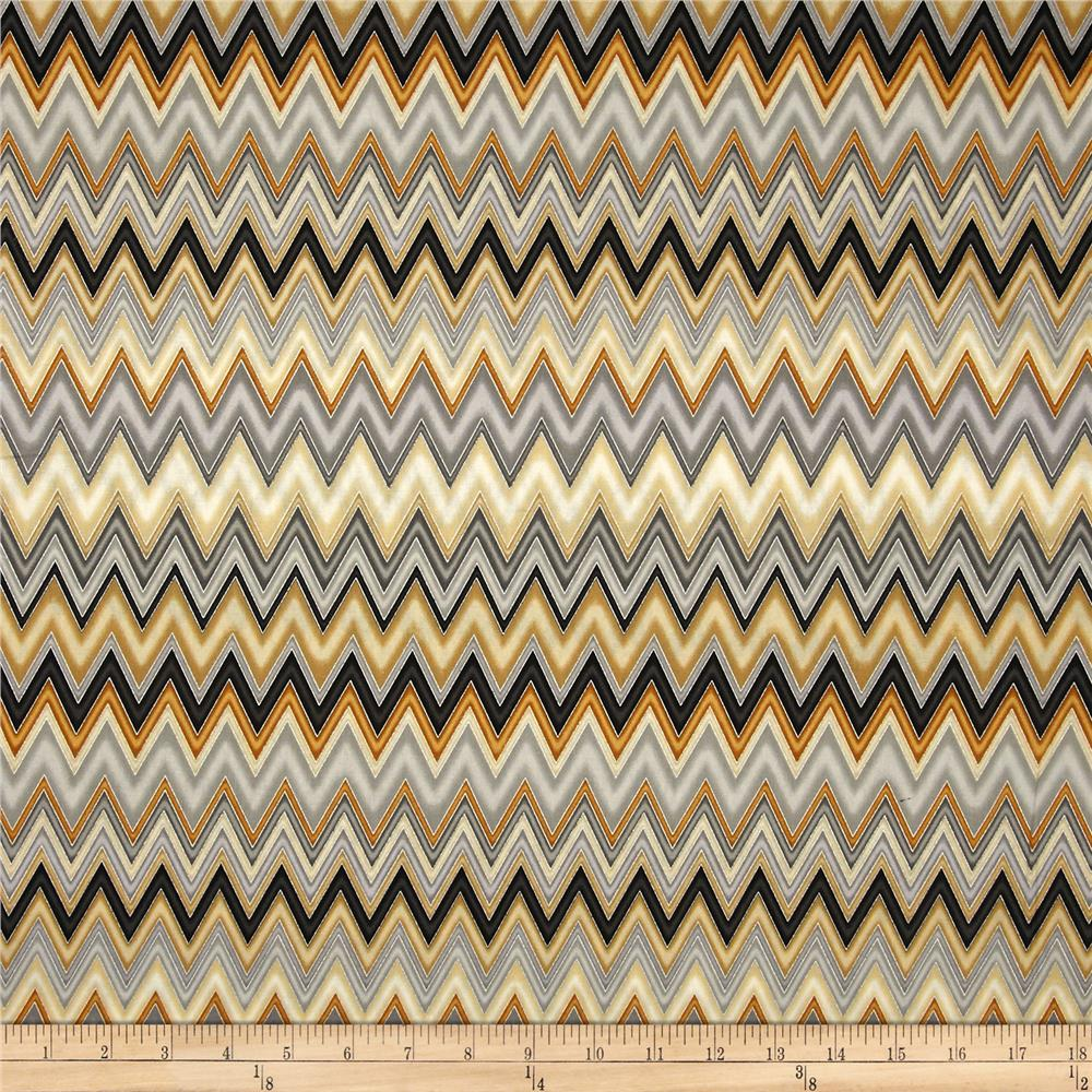 Winter's Grandeur Metallic Chevron Winter