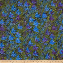Island Batik Fish Olive/Purple