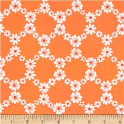 Michael Miller Happy Tones Jemma Floral Lattice Orange