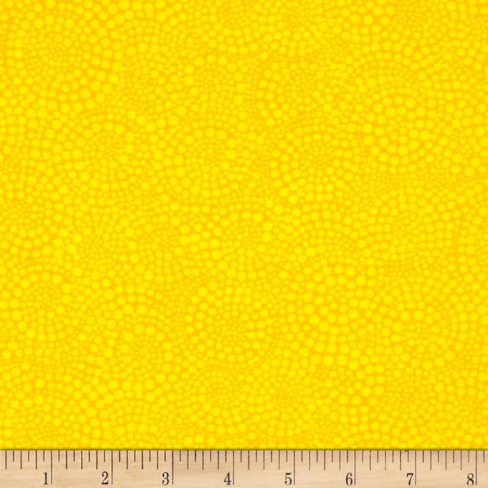 Timeless Treasures Pop Basic Circle Dots Yellow