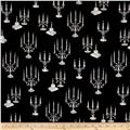 Fright Night Metallic Candelabras Black