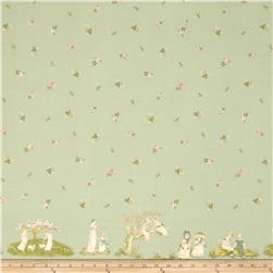 Lecien Kate Greenaway Border Print Green