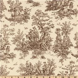Premier Prints Jamestown Toile Brown/Natural Fabric