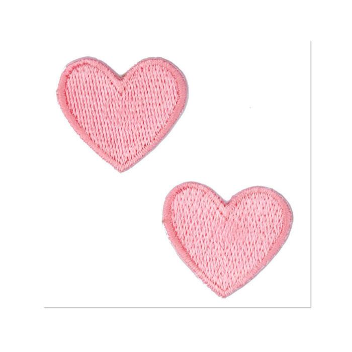 Boutique Applique Hearts Pink