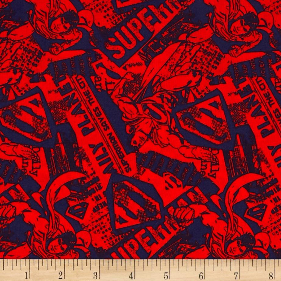 Superman News Red/Navy