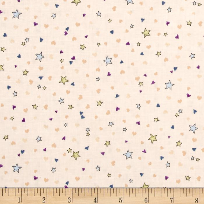 Rainbow Dreams Stars & Hearts Beige