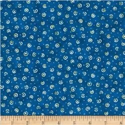 Shangri-La Tossed Dots Dark Blue