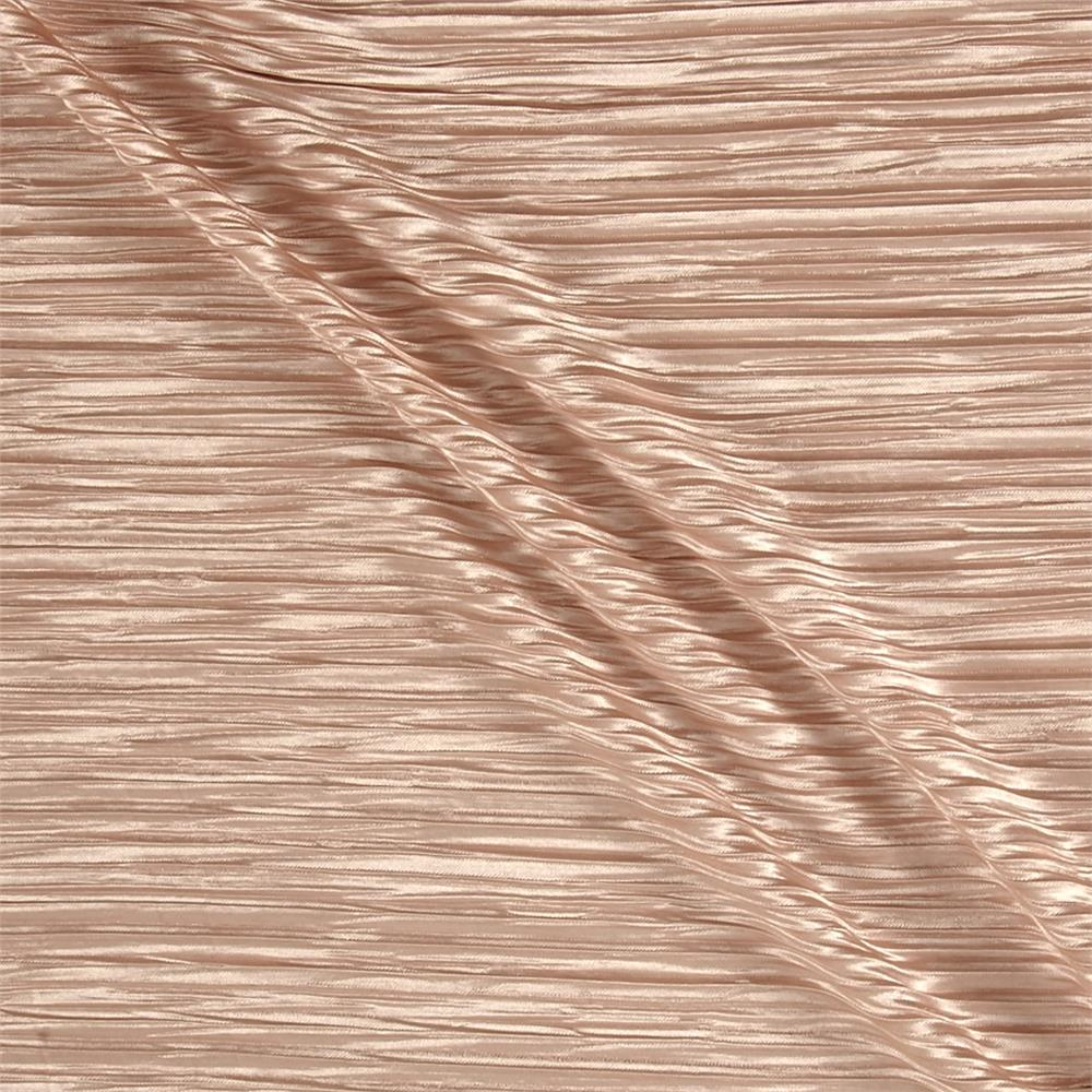 Pleated Bodre Solid Nude Rose