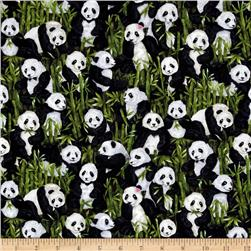 Peter Panda Pandas Green Fabric